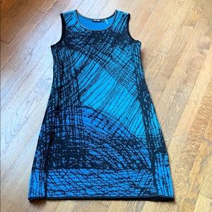 Nic+Zoe blue sheath dress